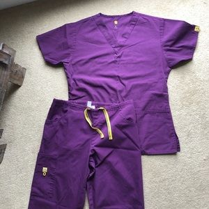 Wonderwink Origins Scrub Set Purple Size Small